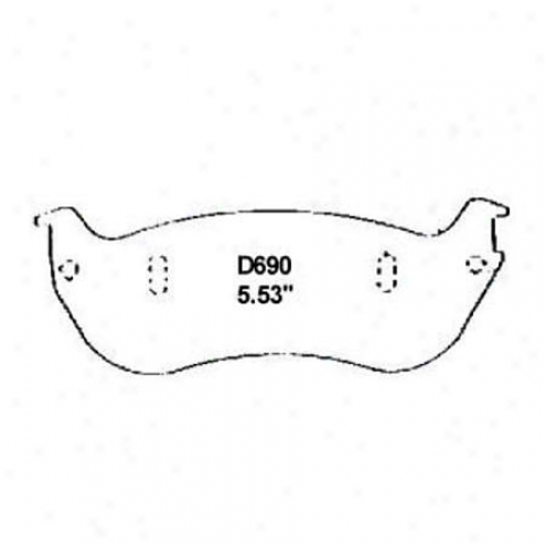 Wearever Siver Brake Pads/shoes - Rear - Nad 690