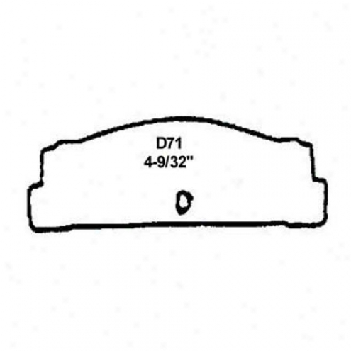 Wearever Sikver Brake Pads/shoes - Rear - Nad 71