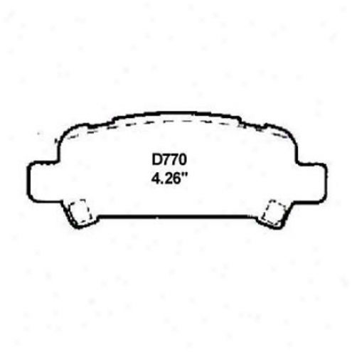 Wearever Silver Brake Pads/shoes - Rear - Nad 770