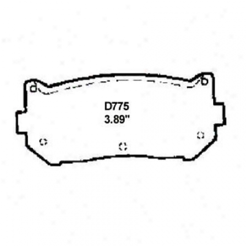 Wearever Gentle Brake Pads/shoes - Rear - Nad 775