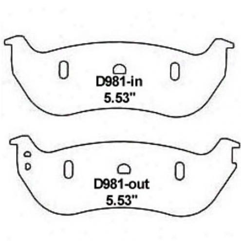 Wearever Silver Brake Pads/shoes - Rear - Nad 981