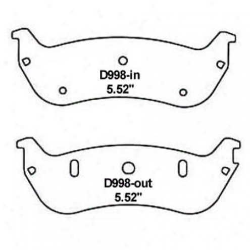 Wearever Silver Brake Pads/shoes - Rear - Nad 998
