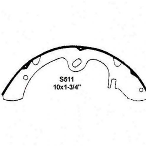 Wearever Silvery Brake Pads/shoes - Rear - Nb511