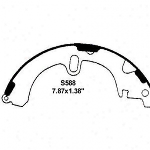 Wearever Silver Brake Pads/zhoes - Rear - Nb588