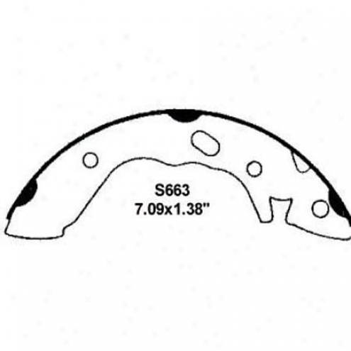 Wearever Silver Brake Pads/shoes - Rear - Nb663