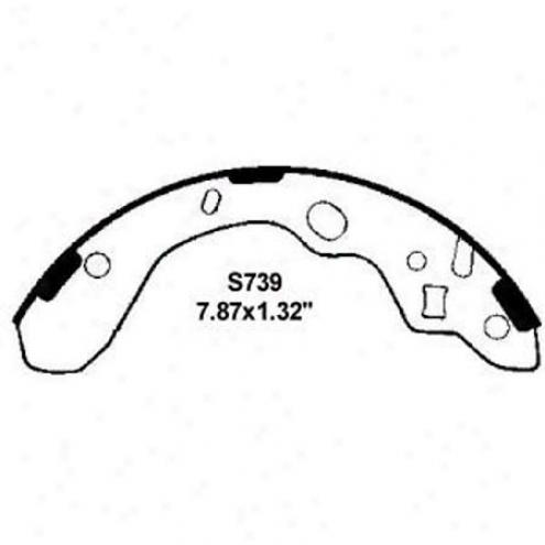 Wearever Silver Brake Pads/shoes - Rear - Nb739