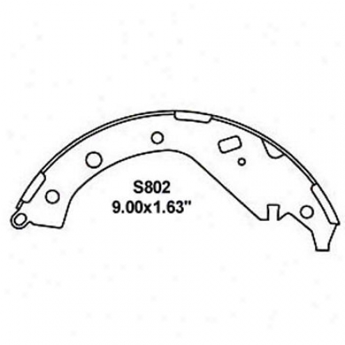Wearrever Silver Brake Pads/shoes - Rear - Nb802