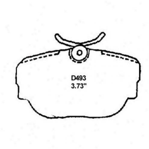Wearever Silver Pads/shoe - Mkd 493/mkd 4933