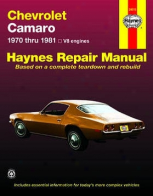 1972-1981 Chevrolet Camaro Mend Manual Haynes Chevrolet Repair Manual 24015 72 73 74 75 76 77 78 79 80 81