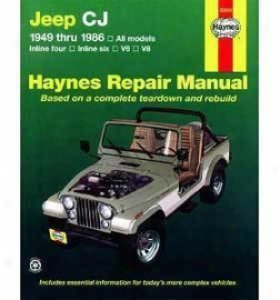 1976-1986 Jeep Cj7 Repair Manual Haynes Jeep Repair Manual 50020 76 77 78 79 80 81 82 83 84 85 86