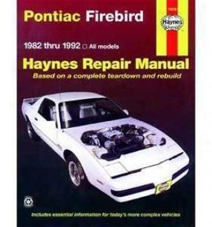 1982-1992 Pontiac Firebird Repair Manual Haynes Pontiac Repair Manual 79019 82 83 84 85 86 87 88 89 90 911 92