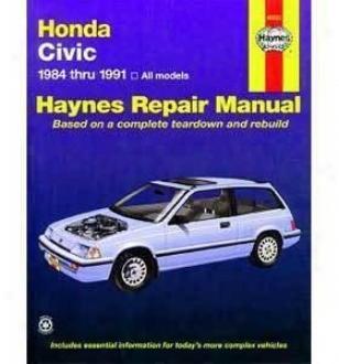 1984-1990 Honda Civic Repair Manual Haynes Honda Repair Manual 42023 84 85 86 87 88 89 90