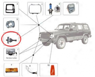 1984-2001 Jeep Cherokee Headlight Adjust Screw Crown Jeep Headlight Adjust Screw 55054621 84 85 86 87 88 89 90 91 92 93 94 95 96 97 98 99 00 01