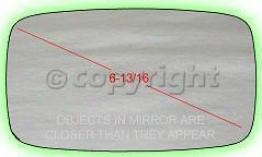 1985-1989 Porsche 911 Mirror Glass Ppg Auto Glass Porsche Mirror Glass 2814-ppg 85 86 87 88 89