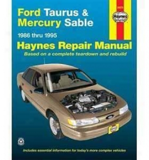 1986-1995 Ford Taurus Repair Manual Haynes Fotd Repair Manual 36074 86 87 88 89 90 91 92 93 94 95