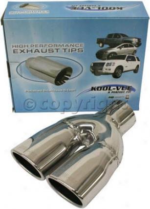 1986-2001 Acura Integra Exhaust Tip Kool Vue Acura Exhauxt Tip Kv160114 86 87 88 89 90 91 92 93 94 95 96 97 98 99 00 01