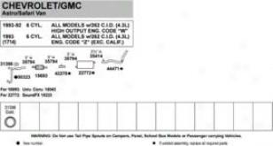 1987-1995 Chevrolet G10 Exhaust Clamp Walker Chevrolet Exhaust Clamp 35794 87 88 89 90 91 92 93 94 95