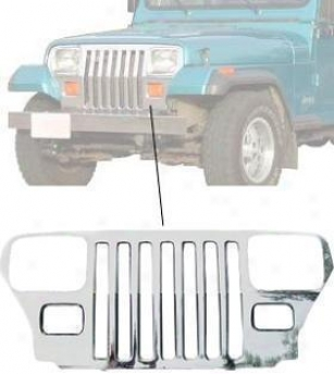 1987-1995 Jeep Wrangler Grille Insert Crown Jeep Grille Insert 55026587st 87 88 89 90 91 92 93 94 95