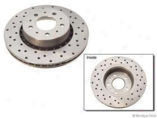 1987 Volvo 740 Brake Disc Zimmermann Cross Drilled Volvo Brake Disc W0133-1613244 87