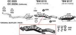 1988-1993 Bmw 553i Muffler Ansa Bmw Muffler Bw8115 88 89 90 91 92 93