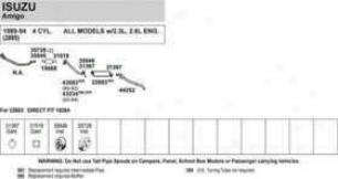 1989-1995 Geo Tracker Muffler Walker Geo Muffler 18217 89 90 91 92 93 94 95