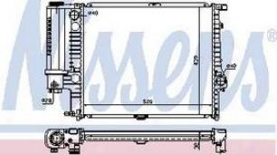 1992 Bmw 525i Radiator Nissens Bmw Radiator 60743a 92