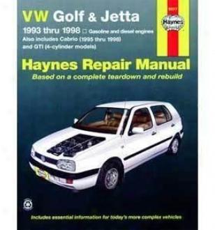 1993-1998 Volkswagen Golf Repair Manual Haynes Volkswagen Repair Manual 96017 93 94 95 96 97 98