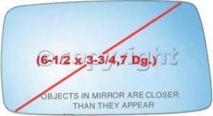 1993-1999 Volkswagen Jetta Mirror Glass Ppg Auto Glas Volkswagen Mirror Glass 35Z0 93 94 95 96 97 98 99