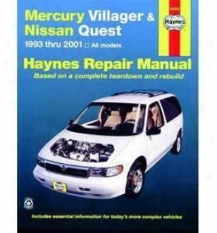 1993-2001 Messenger Villager Repair Manual Haynes Newspaper vender Repair Manual 64200 93 94 95 96 97 98 99 00 01