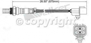 1994-1996 Dodge Stealth Oxygen Sensor Walker Products Dodge Oxygen Semsor 25024235 94 95 96