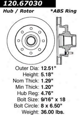 1994-1999 Dodge Ram 2500 Brake Disc Centric Dodge Thicket Disc 120.6703 94 95 96 97 98 99