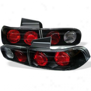 1994-2001 Acura Integra Tail Light Spyder Acura Tail Light Alt-yd-zi94-4d-bk 94 95 96 97 98 99 00 01