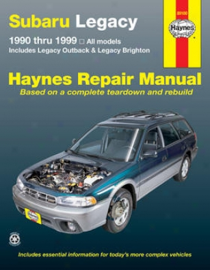1995-1999 Subaru Legacy Repair Manual Haynes Subaru Repair Manual