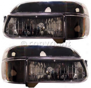 1995-2001 Ford Explorer Headlight Anzo Ford Headlight 111039 95 96 97 98 99 00 01