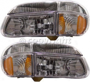 1995-2001 Ford Explorer Headlight Anzo Ford Headlight 111040 95 96 97 98 99 00 01