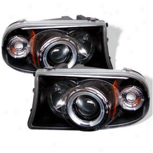 1997-2001 Dodge Dakota Headlight Spyder Dodge Headlight Pro-yd-ddak97-bk 97 98 99 00 01