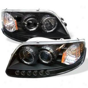 1997-2003 Ford F-150 Headlight Spyder Ford Headlight Pro-yd-ff15097-1p-am-bk 97 98 99 00 01 02 03
