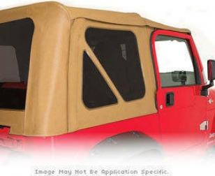 1997-2006 Jeep Wrangler Tinted Window Kit Rampage Jeep Tinted Windoq Kit 699617 97 98 99 00 01 02 03 04 05 06