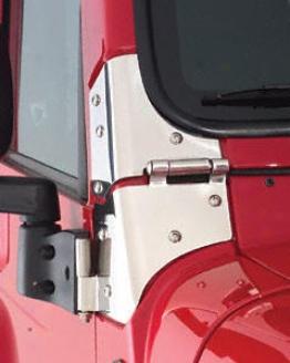 1997-200 Jeep Wrangler Windshield Hinge Kt Outland Jeep Windshield Hinge Kit 7493 97 98 99 00 01 02 03 04 05 06 07 08