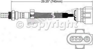 1998-1999 Audi A4 Oxygen Senaor Wslker Products Audi Oxygen Sensor 25024147 98 99