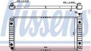1999-2000 Cadillac Escalade Radiator Nissens Cadillac Radiator 608801 99 00