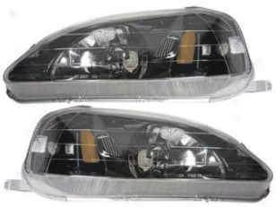 1999-2000 Honda Civic Headlight Anzo Honda Headlight 121234 99 00