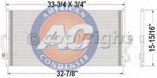 1999-2003 Ford Windstar A/c Condenser Aci Ford A/c Condenser P40189p 99 00 01 02 03