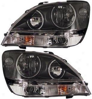 1999-2003 Lexus Rx300 Headlight Anzo Lexus Headlight 111047 99 00 01 02 03