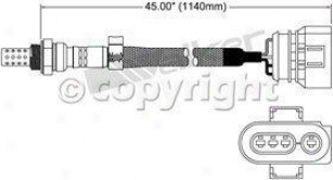 1999 Audi A4 Oxygen Sensor Walker Products Audi Oxygen Sensor 25024146 99