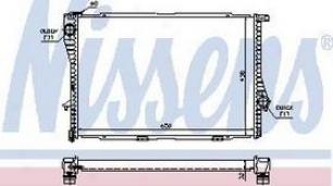 2001-2003 Bmw 525i Radiator Nissens Bmw Radiator 60648a 01 02 03