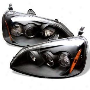 2001-2003 Honda Civil Headlight Spyder Honda Headlight Pro-yd-hc01-am-bk 01 02 03