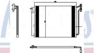 2001-2005 Bmw X5 A/c Condenser Nissens Bmw A/c Condenser 94605 01 02 03 04 05