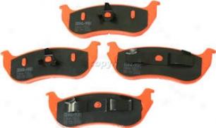 2003-2006 Jeep Wrangler Brake Pad Set Kool Vue Jeep Brake Pad Set vK2001106r 03 04 05 06