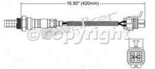 2004 Buick Regal Oxygen Sensor Walker Products Buick Oxygen Sensor 25024267 04